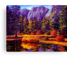 Autumn on the Yosemite River Canvas Print
