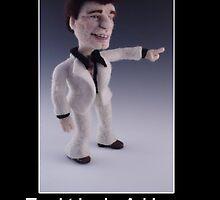 Li'l Travolta - Needle Felted Art Doll by feltalive