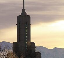 Mount Timpanogos Temple - Cold Winter Day by Ryan Houston
