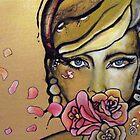 """petalspeak"" oil on canvas by Chantelle Petith"