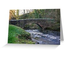 Packhorse Bridge - West Burton Greeting Card