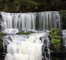 Waterfall Sgwd Isaf by Clive  Rees