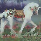 Unicorn Birthday Card Magical Birthday by Moonlake