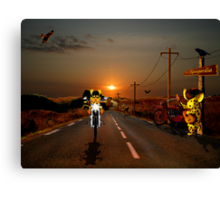 On the road to Mausopardia Canvas Print