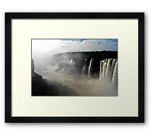 Iguazu Falls Seen from Brazil Framed Print