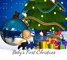 Baby's First Christmas A Weenie Baby With A Huge Bauble by Moonlake
