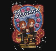 Gemini Zodiac Tee With Moonies Twin Cutie Pies by Moonlake