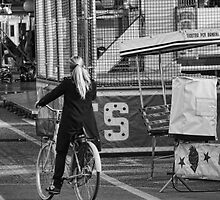 Woman Cycling by oreundici