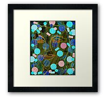 Pretty Bubbles in the Mud Framed Print