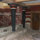 Knossos, Crete, Black Pillars by bowenbw