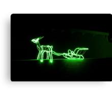 Reindeer Lights Canvas Print