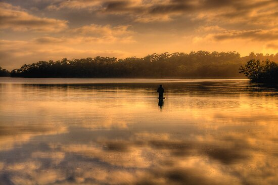 Anglers Dawn (Landscape) - Narrabeen Lakes - The HDR Experience by Philip Johnson
