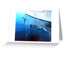 Yacht Reflection - Oil on Canvas Greeting Card