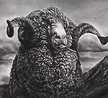 Monarch of the Ram by burntwoodstudio