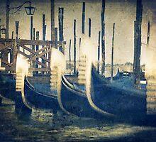 Venice gondolas by James Rowland