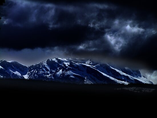 Mountains and moonlight by George Cousins