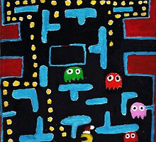 classic game of pac-man art by StuartBoyd