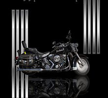 Motorbike Stylish Birthday Card by Moonlake