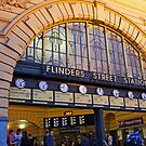 Flinders St Station by Harry Oldmeadow