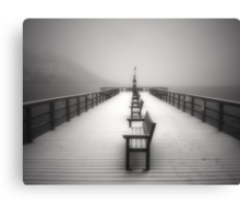 The Winter Pier Canvas Print