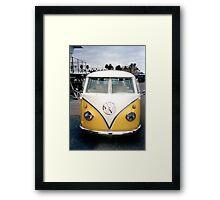 VW Bus Split window Framed Print