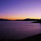 sundown over hume weir wall,panorama by dmaxwell