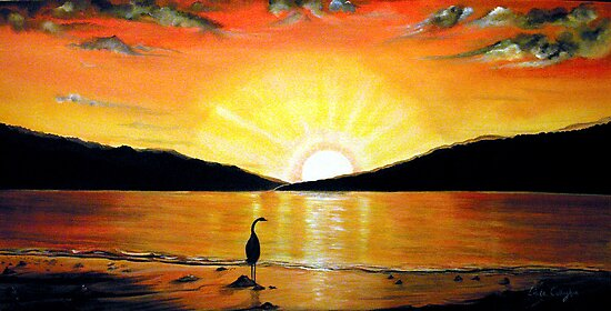 Beach Sunset quot  by   169  Linda Callaghan   RedbubbleEasy Beach Sunset Paintings