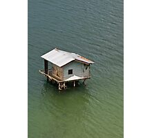 Fishing shack, Takengon, Aceh, Indonesia Photographic Print