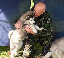 'Hard' Para Dog-Handler at work! by Graham Povey