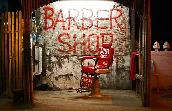 The Barber of Vang Vieng by fenjay