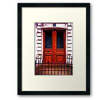 Paris Doorway Framed Print