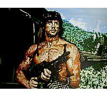 Rambo iconic piece by artist Debbie Boyle - db artstudio Photographic Print