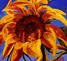 Sunflower Against the Blue Sky by sesillie