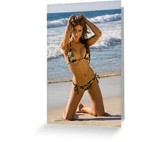 Beach Girl 4 Greeting Card