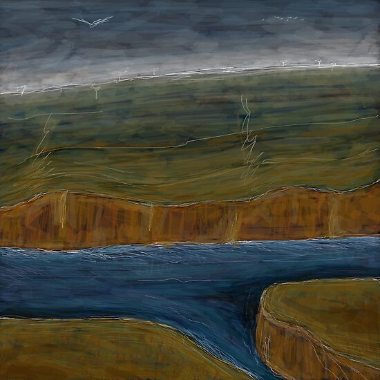 Outback River 01 by Julian Newman