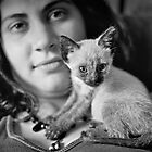 girl with cat by Damiano Cecchelin