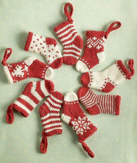 Christmas stockings by bunnyknitter