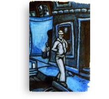 Blue Walker no.3 Canvas Print