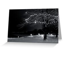 A Quiet Night in December Greeting Card
