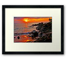 Sunset on Maui, Hawaii Framed Print