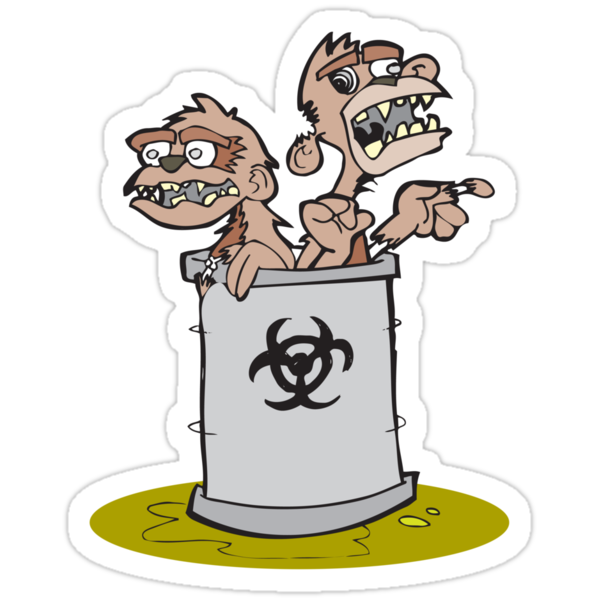 Zombie Barrel of Monkeys by tedhealey