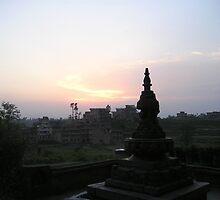 Bode Sunset, Bhaktapur, Nepal by Shanna Underwood