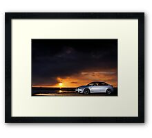 BMW M3 as the sun sets .... Framed Print