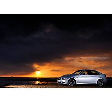 BMW M3 as the sun sets .... Photographic Print