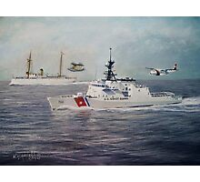 U. S. Coast Guard Then and Now - 1915-2009 Photographic Print