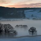 Panorama of Esthwaite in winter 2 by Simon Hathaway