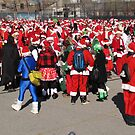Santas in New York! by Christine Wilson