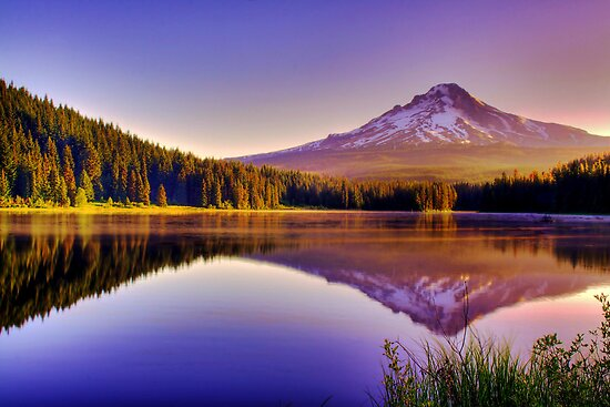 Dawn On The Hood - Mt. Hood, Oregon by John Absher
