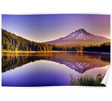 Dawn On The Hood - Mt. Hood, Oregon Poster