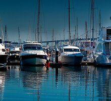 Boats at anchor by JohnKarmouche